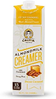 Califia Farms Pecan Caramel Almondmilk Coffee Creamer with Coconut Cream, 32 Oz (Pack of 6) | Dairy Free | Plant Based | Nut Milk | Vegan | Non-GMO