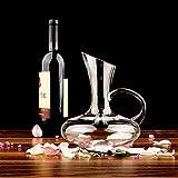 L.TSA Decantador Soplado a Mano 100% de Vidrio sin Plomo Decantador de Vino Jarra de Vino Accesorios para Vino Decantador de Vino Tinto Regalo de Vino