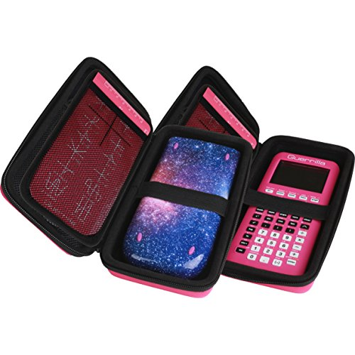 Guerrilla Hard Travel Case for TI-83 Plus, TI-84 Plus, TI-84 Plus Color Edition, TI-89 Titanium, TI-Nspire CX&CX CAS, HP50G Graphing Calculators + Guerrilla's Essential Calculator Accessory Kit, Pink Photo #6