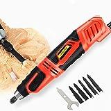 YJINGRUI Scalpelli per legno elettrico scalpello elettrico per sculture scalpello legno Intagliatore elettrico per legno con 5 lame (Ospite + 5 lame)