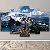 MSKJFD 5 Piezas Lienzo Argentina montañaParedimpresión HD impresión Cartel Pinturas Sala de Estar decoración del hogar imágenes