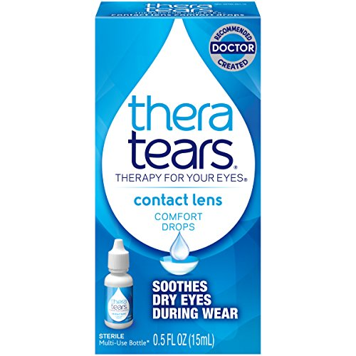 TheraTears Eye Drops for Contacts, Contact Lens Rewetting Eyedrops for Dry Eyes due to Contact...