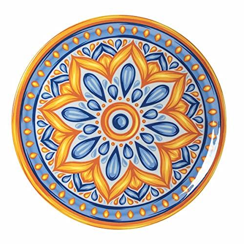 Villa d'Este Home Tivoli Gubbio set 6 Piatti pizza in stoneware Ø 33 x h. 2 cm Made Italy