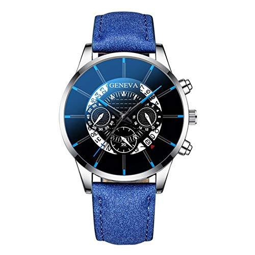 Moda Relojes Hombre Elegante Vestir, Cool Unique Digital Literal Multi Layer Dial Hombres Reloj De Correa De Malla De Cuarzo