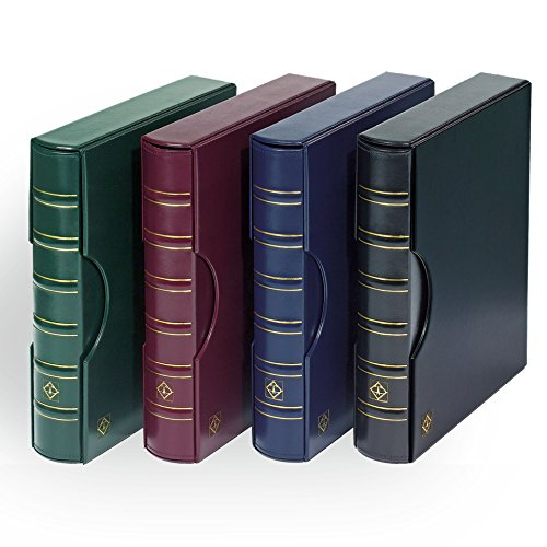 Lighthouse Green Classic Grande 3-Ring Binder with Slipcase Storage Case for Coins, Stamps, Currency, Bank Notes, Documents, and Other Collectibles - Pages Sold Separately