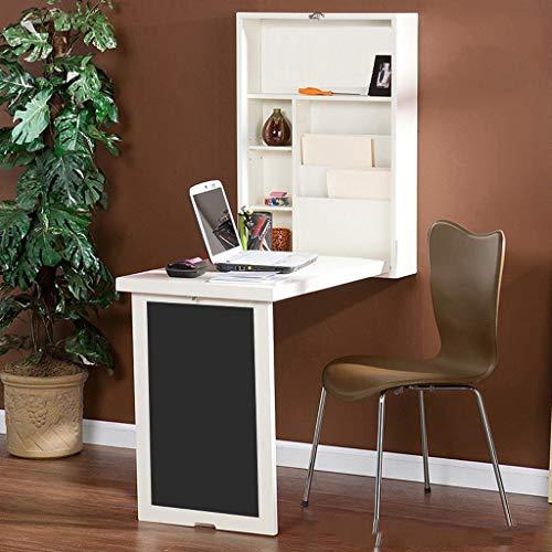 Tisch zur Wandmontage Wandschreibtisch, Ausklappbarer Umwandelbarer Schreibtisch Multifunktions-Laptop-Wandschreibtisch Mit Stauraum Schreibtisch Schreibtisch - Wohn- / Schlafzimmer
