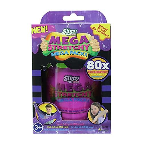 Slimy Mega Stretchy 500g Spielmasse in Lila | für natürlich sicheres Slime-Spielvergnügen | Original Slimy Spielmasse