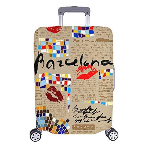 Periódico de Barcelona con mosaicos y Labios Equipaje de Viaje Choice de Travelers con Ruedas giratorias Maleta con Equipaje de 20 Pulgadas