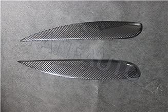 FANFAUTO Carbon Fiber Headlight Cover Eyelids Eyebrows for Mitsubishi Lancer Ralliart Sportback LS Wagon ES 2004-2006