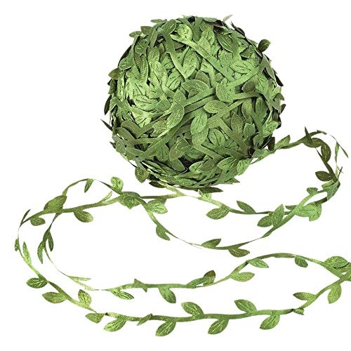 SBDLXY Vides Artificiales Hoja de Cinta Guirnalda Hojas Selva botánica Verde Falso follaje de ratán para Fiesta Boda Coronas DIY
