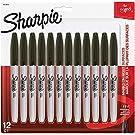 SHARPIE Permanent Markers, Fine Point, Black