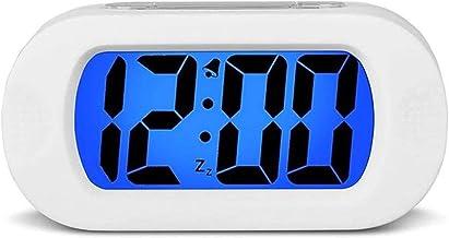 Digitale wekker, geüpgraded schokbestendig LCD-scherm Reisklok Snooze zacht nachtlicht stijgend geluid alarmklok voor thui...