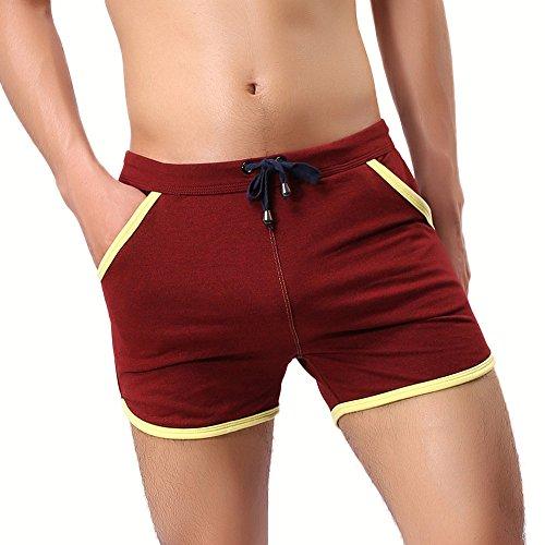 FRAUIT-Herren Shorts Vintage Retro Boardshorts Gym Sport Jogginghose Fitnesshosen Schnelltrocknend mit Mesh-Futter und Verstellbarem Tunnelzug MEHRWEG