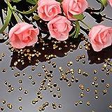Transparente Hochzeits-Streudekoration, 10.000 Acryl-Kristalle, Diamanten, Strass für Hochzeit, Brautparty, Vasen, Perlen, acryl, gold, 0,30 cm - 6