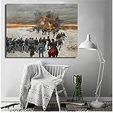 linshel Bürgerkrieg Schlachten Thomas Leinwand druckt Bild Moderne Gemälde für Wohnzimmer Poster an der Wand Home Decoration-50x70cm Kein Rahmen
