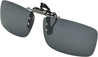 Besgoods Cycling Sport Polarized Clip-on Flip up Metal Clip Sunglasses Lenses Glasses Unbreakable Driving Fishing Outdoor