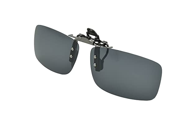09ab9db08f Besgoods Sports Polarized Clip-on Sunglasses Metal Clip Flip up Glasses  Lenses Driving Fishing Cycling Outdoor