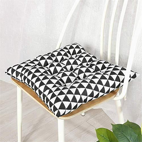 L.HPT Quadratische 2-Sitzer-Sitzpolster, dekorative Sitzpolster-Kissen, rutschfeste Gesteppte Sitzpolster Sitzkissen aus Baumwoll-Leinen für Gartenhäuser (Nr. 8,45 * 45 cm)
