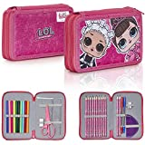 L.O.L. Surprise ! Estuche Escolar Para Niñas, With LOL Dolls Fresh and Fancy, Incluye 30 Accesorios ...