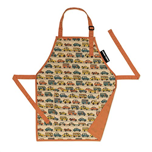 Urban Infant Little Helper Apron for Children | Kids, Cooking Baking Crafting Art Gardening, Boys and Girls, Machine Washable - Small - Traffic