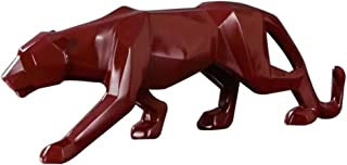 YUHUAWYH Modern Art Collectible Figurines Resin Leopard Sculpture Panther on The Prowl Statues for House Office Decoration