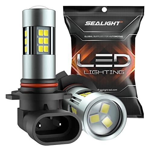 SEALIGHT H10/9145/9140/9045/9040 LED Fog Light Bulbs, 6000K Xenon White, 27 SMD...