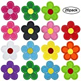 26 Piezas Coser Hierro en Parches Patch Sticker, Insignia Bordado Girasol Flores...
