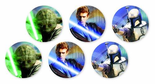 Star Wars 11983 - Set 6 Adesivi Antiscivolo per Vasca da Bagno