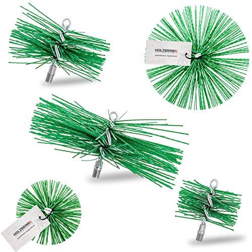 HOLZBRINK Kaminbesen für Schornsteinreinigung Ofenrohrbürste 100 mm Schornsteinbesen aus Kunststoff M12, 1 Stück