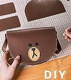 Cubs EIN-Schulter-Tasche schräge Tasche Frau handgewebte Naht DIY Material selbst gemacht