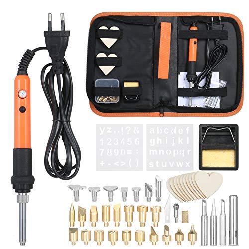 Kit de soldador eléctrico,soldador de temperatura ajustable 200~450 ° C,3 piezas de puntas de soldador bolsa de transporte con cremallera portátil