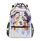 Ahomy Mochila escolar para adolescentes y niños, mochila de viaje para perros de pastor australiano, bolsa de senderismo para mujeres y hombres