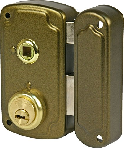 Ilargi - Cerradura 1056b 70dcha de sobreponer c/cilindro. palanca c/llave en el ext y picaporte con manilla interior. reversible 1056b-he70d
