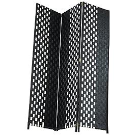 Casa dolce casa Paravent à 3 panneaux pliable, pour protéger la propriété de confidentialité ou comme meuble, rotin et…