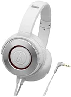 audio-technica SOLID BASS ポータブルヘッドホン 重低音 ホワイト ATH-WS550 WH