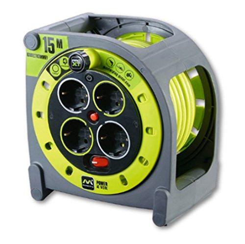 Luceco HME15164SL-PX Pro XT Kabelaufwicklung, 3680 W, 250 V, grau/pistaziengrün