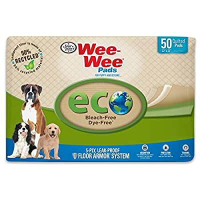 """Wee-Wee Puppy Pee Pads 50 Count Standard 22"""" x 23"""" - Eco-Friendly"""