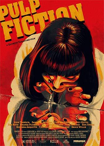 Pulp Fiction, Filmplakate, Kraftpapierplakate, Wandaufkleber, Vintage-plakate, Dekorative Gemälde, Malplakate