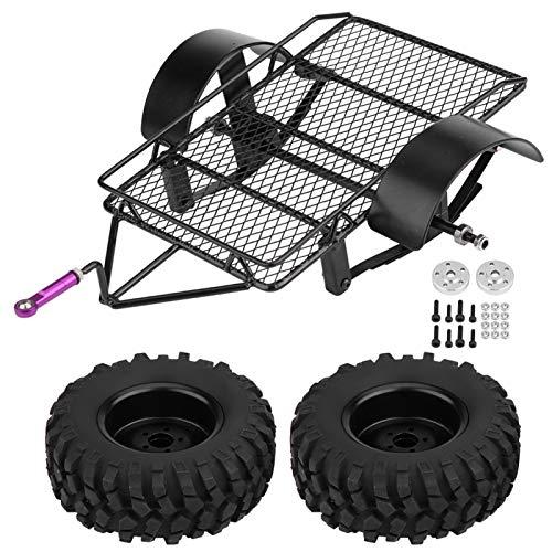 Pwshymi Remolque de Metal DIY 90mm Neumáticos robustos RC Crawler Cars Alta Durabilidad para niños Juguetes para niños Regalo