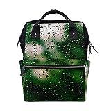 Mochila Rainy Drop Window Art Emotion de gran capacidad, bolsa de...