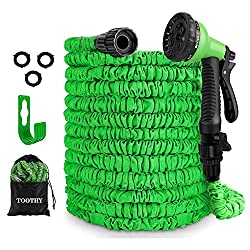 commercial A sawtooth expandable 100-foot garden hose, a flexible water hose with eight functional attachments, a durable three-layer … snake hose lowes 2