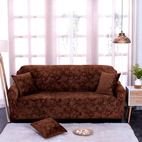 MODI Sofa Slipcover Printed Flower Thick Custom Sofa Cover Stretch General European Style 1/2/3/4 Seater Grey Black Living Room,coffee,2seatcover145to185cm