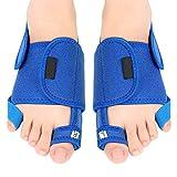 Enderezadora de dedos gordos Separador de dedos Alivio del dolor + Almohadilla de arco de silicona PU 1 par (1 par)