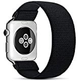 ZALAVER Stretchy Solo Loop Elastic Bands Compatible with Apple Watch 38mm 40mm, Stretch Braided Sport Elastics Wristband Compatible with iWatch Series 6/5/4/3/2/1 SE Women Men Large