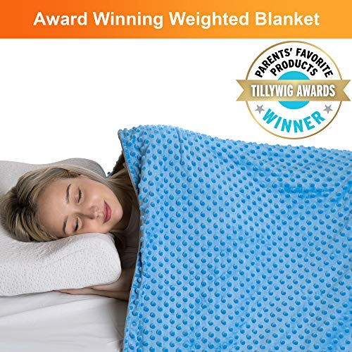 Super Soft Weighted Blanket for Adult and Child - 48 x 72-12 lb Comfort Weighted Blankets for Twin Size Bed - Calming Weighted Blanket Adults & Kids with Removable Cover - Comfort Heavy Blanket