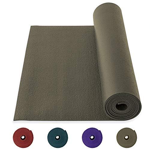 Yogibato Yogamatte Studio PVC Ökotex 100 – Made in Germany – rutschfest & Schadstofffrei – Matte für Gymnastik Pilates Sport Fitness – Yoga Mat – [183x60x0,45cm] – Taupe