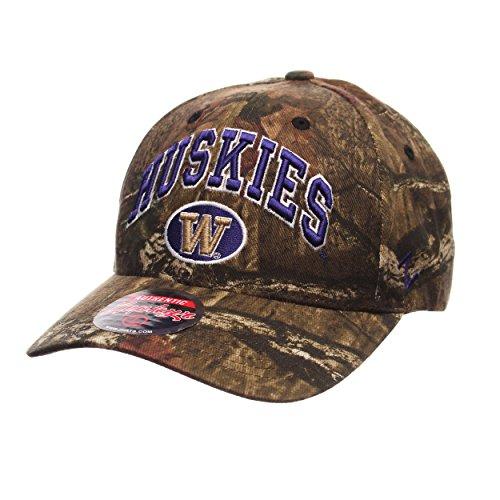 Zephyr Washington Huskies Camouflage Relaxed Fit Snapback Cap - NCAA Camo, One Size Adjustable Baseball Hat