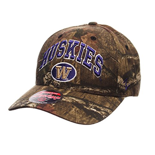 Zephyr Washington Huskies Camouflage Relaxed Fit Snapback Cap - NCAA Camo, One Size Adjustable Baseball Hat