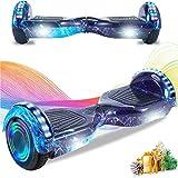 HappyBoard 6,5 Pollici Hoverboard Monopattini Elettrici Autobilanciati Scooter Elettrico Autobilanciante, Ruote da Skateboard con Luce a LED, Motore 700 W Bluetooth per Bambini e Adulti (Fiamma)
