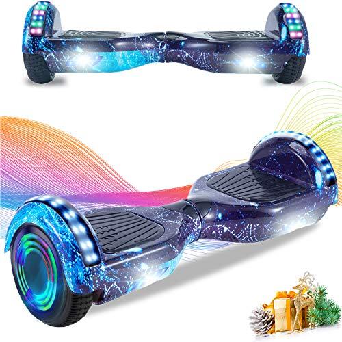 HappyBoard Hoverboard 6.5   Patinete Eléctrico Bluetooth Monopatín Scooter autobalanceado, Ruedas de Skate con luz LED, Motor Bluetooth de 700W para niños y Adultos (Fuego)